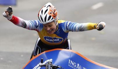 Edith Hunkeler - Winner - Women's Wheeler Race New York City Marathon