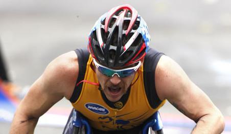 Kurt Fearnley - Winner - Men's Wheeler Race New York City Marathon