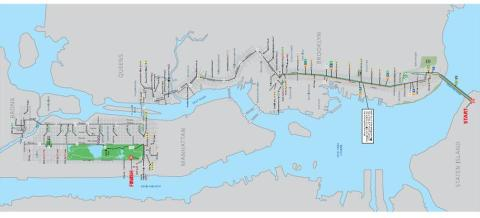 New york city marathon – route map